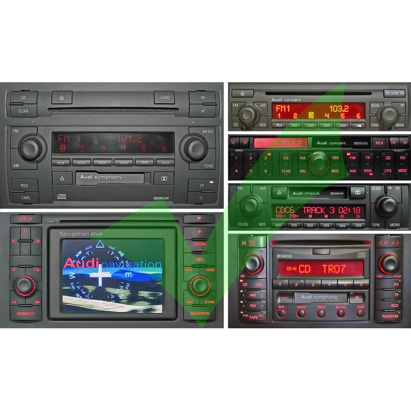 BlueMusic Bluetooth Audio Freisprecheinrichtung Audi 8pin + 20pin